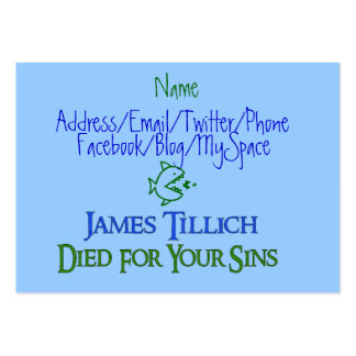 James Tillich Died For Your Sins Pack Of Chubby Business Cards