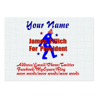 James Tillich For President Business Card Template