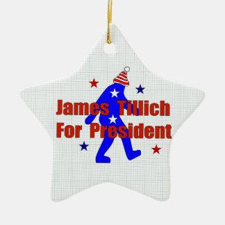 James Tillich For President Ceramic Star Decoration