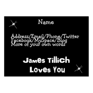 James Tillich Loves You Pack Of Chubby Business Cards