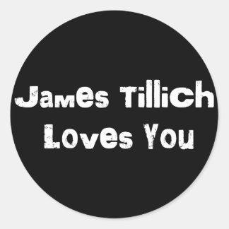 James Tillich Loves You Sticker