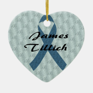 James Tillich Ribbon Ceramic Heart Decoration