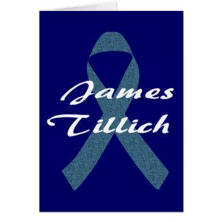 James Tillich Ribbon Greeting Card