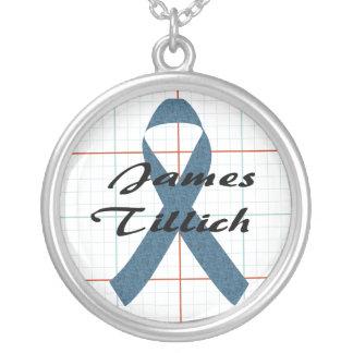 James Tillich Ribbon Round Pendant Necklace