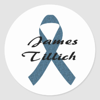 James Tillich Ribbon Round Sticker