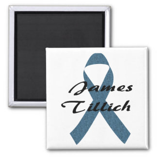 James Tillich Ribbon Square Magnet