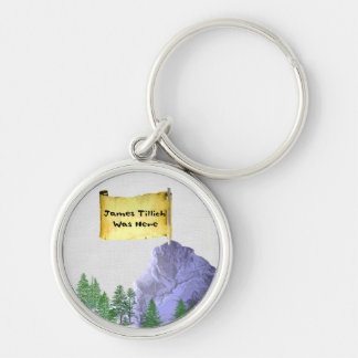 James Tillich Was Here Silver-Colored Round Key Ring