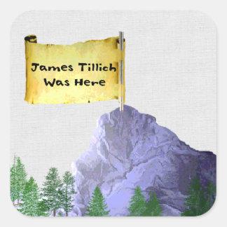 James Tillich Was Here Square Sticker