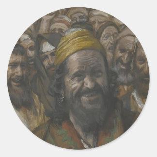 James Tissot- Barrabbas Round Sticker