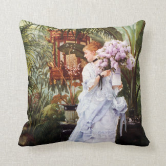 James Tissot Lilacs Pillow Cushion