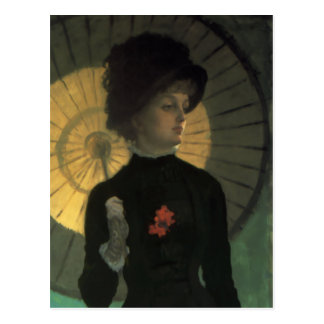 James Tissot Newton Parasol Postcard