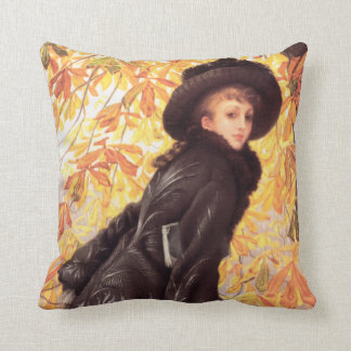 James Tissot October Pillow Throw Cushion