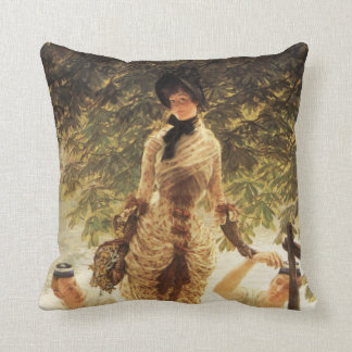 James Tissot On The Thames Pillow