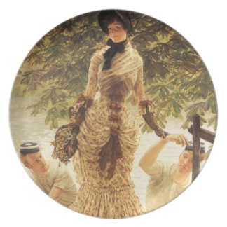 James Tissot On The Thames Plate