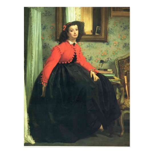 James Tissot- Portrait of Mlle. L.L. Postcard