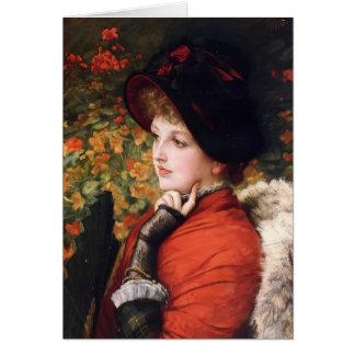 James Tissot-Portrait of Mrs. Kathleen Newton Card