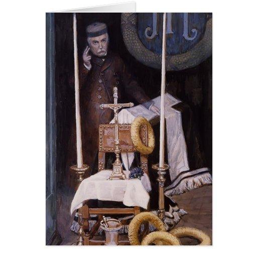 James Tissot: Portrait of the Pilgrim Greeting Cards