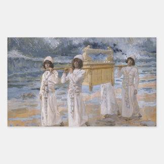 James Tissot - The Ark Passes Over the Jordan Rectangular Sticker