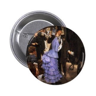 James Tissot The Bridesmaid Button