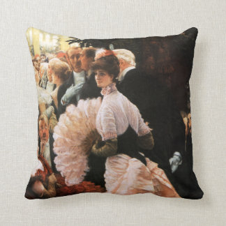 James Tissot The Political Lady Pillow Throw Cushion