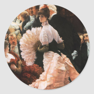 James Tissot The Political Lady Stickers