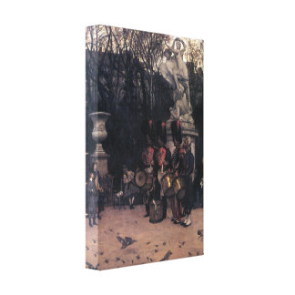 James Tissot - The return march in the Tuileries Gallery Wrap Canvas
