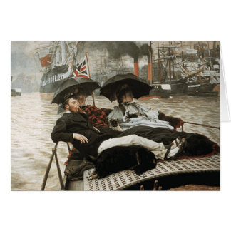 James Tissot - The Thames Greeting Card