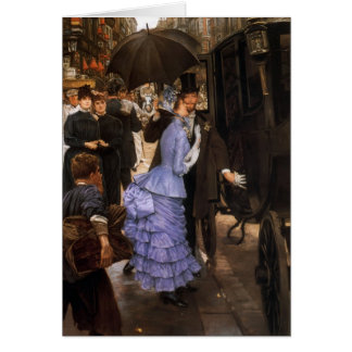 James Tissot- The Traveller Greeting Card