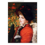 James Tissot Type of Beauty Greeting Card