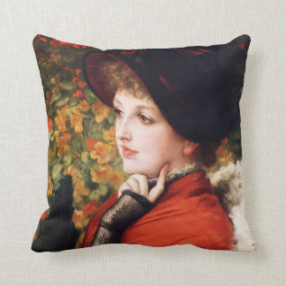 James Tissot Type of Beauty Pillow Cushions