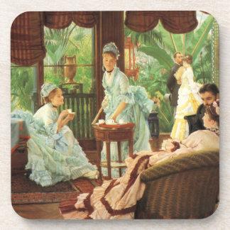 James Tissot Victorian Tea Party Coasters