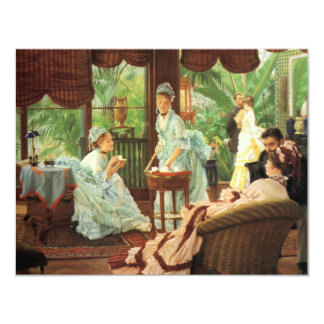 "James Tissot Victorian Tea Party Invitations 4.25"" X 5.5"" Invitation Card"