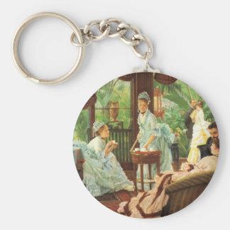 James Tissot Victorian Tea Party Key Chain