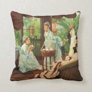 James Tissot Victorian Tea Party Pillow Cushions