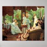 James Tissot Victorian Tea Party Poster