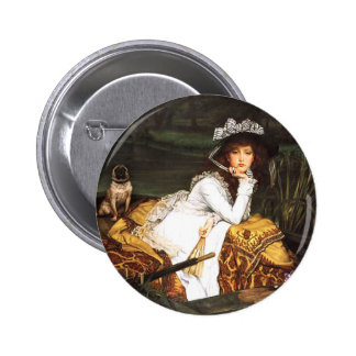 James Tissot Young Lady in a Boat Button