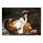 James Tissot Young Lady in a Boat Card