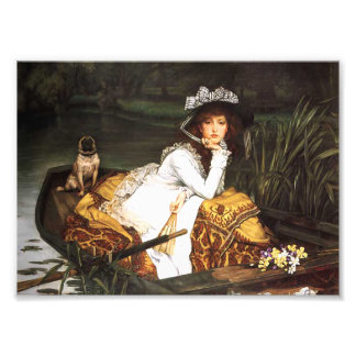 James Tissot Young Lady in a Boat Print