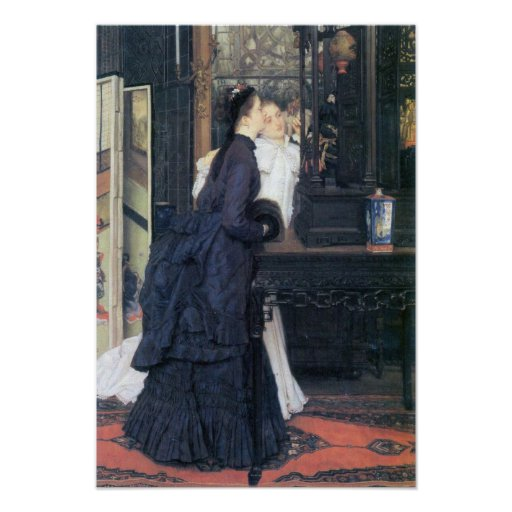 James Tissot - Young women with Japanese goods Posters