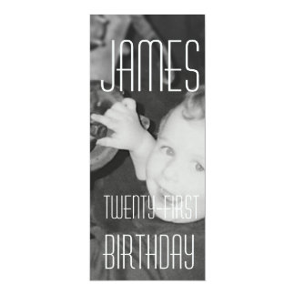 James Twenty - First (Vertical) 10 Cm X 24 Cm Invitation Card