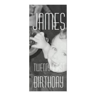 James Twenty - First (Vertical) 10 Cm X 24 Cm Invitation Card