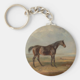 James Ward - Dr. Syntax, a Bay Racehorse Basic Round Button Key Ring