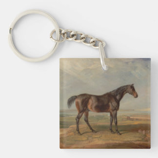 James Ward - Dr. Syntax, a Bay Racehorse Single-Sided Square Acrylic Key Ring
