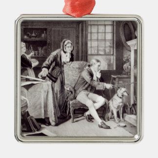 James Watt  Playing with Steam Silver-Colored Square Decoration