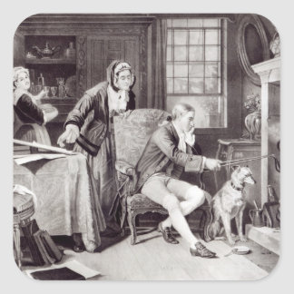 James Watt  Playing with Steam Square Sticker
