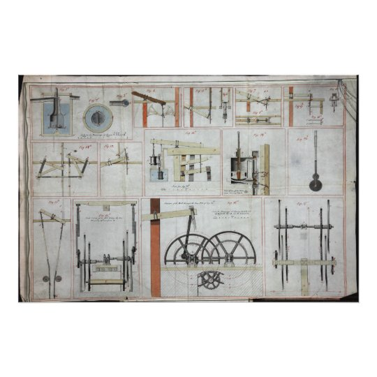 James Watt Steam Engine Poster
