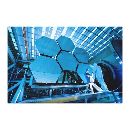 James Webb Space Telescope Mirror Stretched Canvas Prints