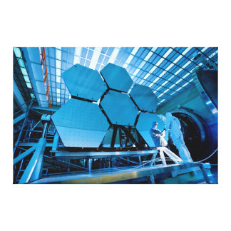 James Webb Space Telescope Mirror Gallery Wrapped Canvas