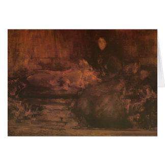 James Whistler-Brown Gold Portrait of Lady Eden Card