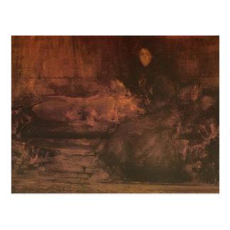 James Whistler-Brown Gold Portrait of Lady Eden Postcard